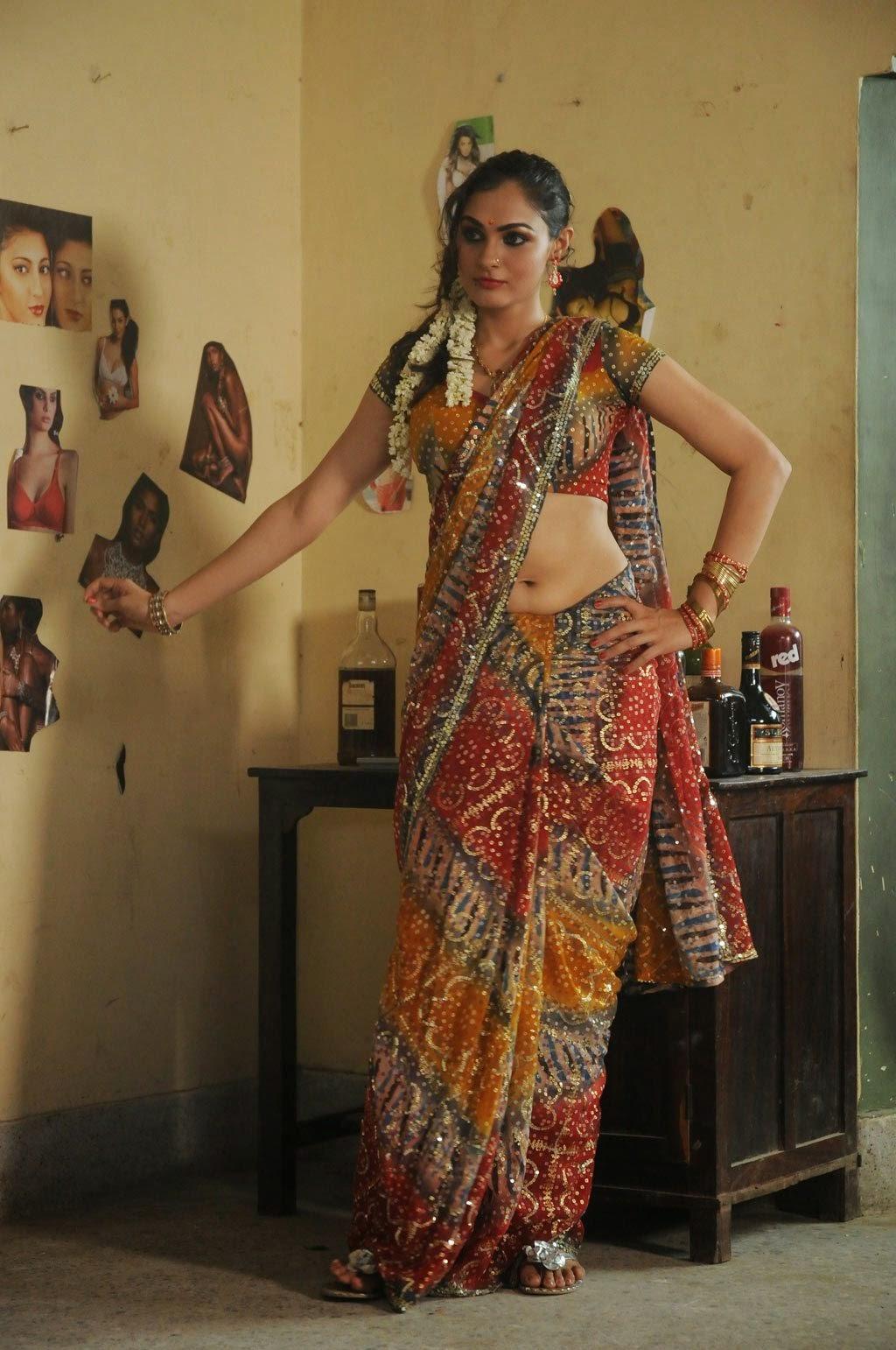Andrea Jeremiah Latest Hot Show Pics In Saree Navel Photos | Tv ...