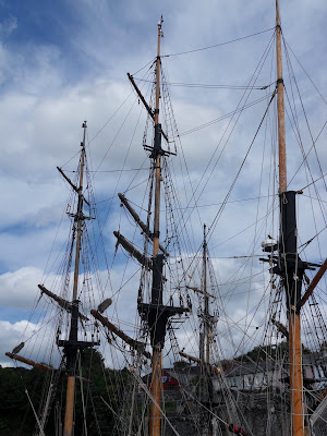 Masts of sailing ships at Charlestown