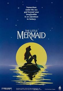 Film Poster The Little Mermaid 1989 movieloversreviews.blogspot.com