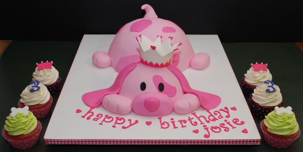 The Bakery Next Door: Pink Puppy Princess Birthday Cake