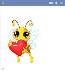 Bee Love Emoticon