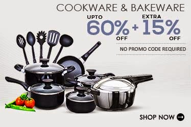 Snapdeal: kitchen ware at Upto 60% off + Extra 25%, Prestige Aluminium Outer-Lid Pressure Cooker – 3 Ltrs at Rs. 724 only