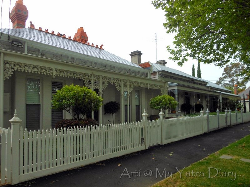 Quaint houses in Dank Street, on the way to ISKCON Temple in Melbourne, Australia