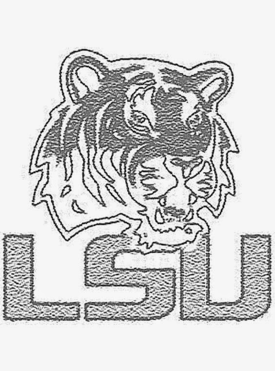 Lsu tiger free colouring pages for College football coloring pages