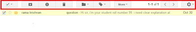 Gmail's New Toolbar