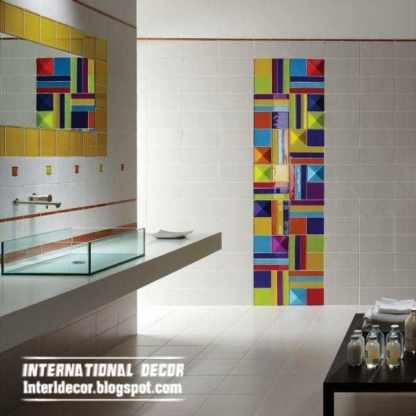Interior design 2014 bathroom mosaic tiles elegant Mosaic tile wall designs