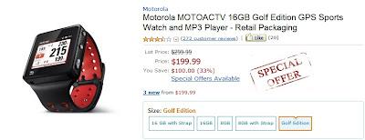 Motorola motoactv coupon