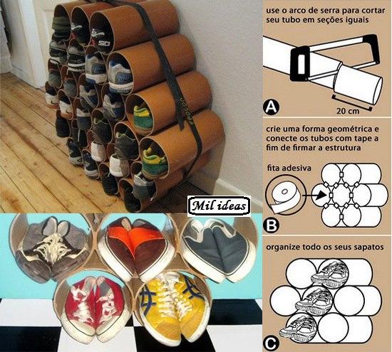 Piedritas y mas hablemos de reciclado - Como guardar zapatos ...