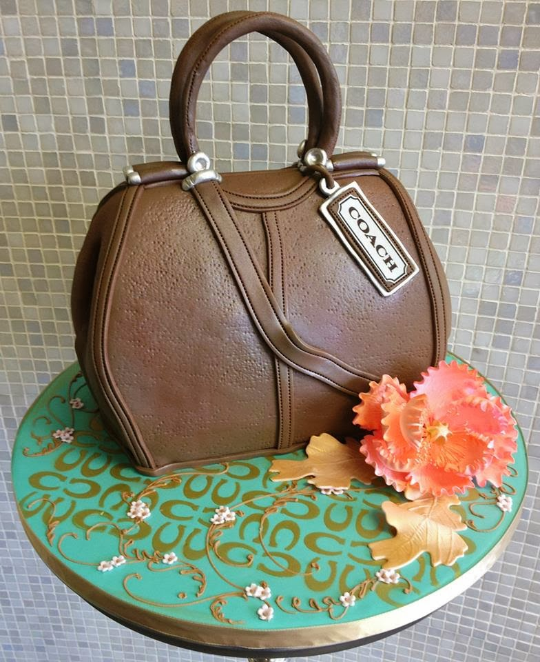 brown coach purse birthday cake