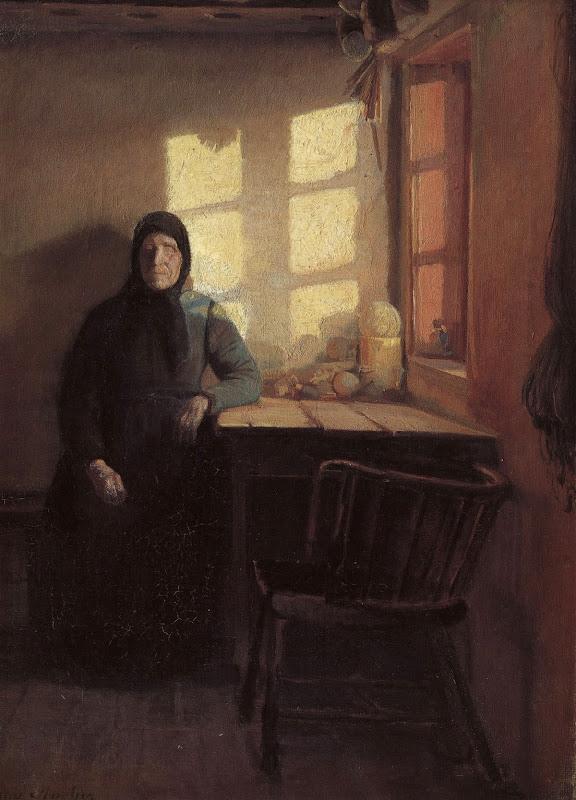 Solskin i den blindes stue - Anna Ancher, 1885