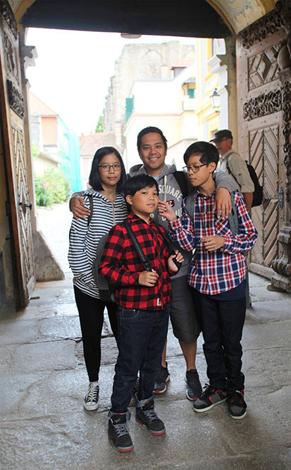 Familienfoto in Dürnstein