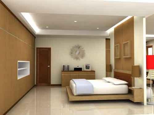 contoh desain interior kamar tidur utama minimalis