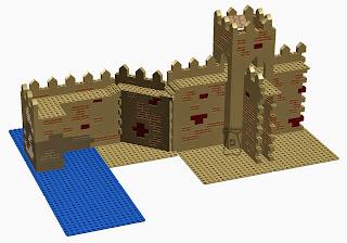 Ejemplo 1: Coracha, que parte del recinto principal, formando zig-zag hasta la zona de aguada.