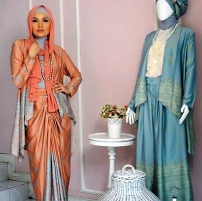 baju muslim sifon terbaru 2015