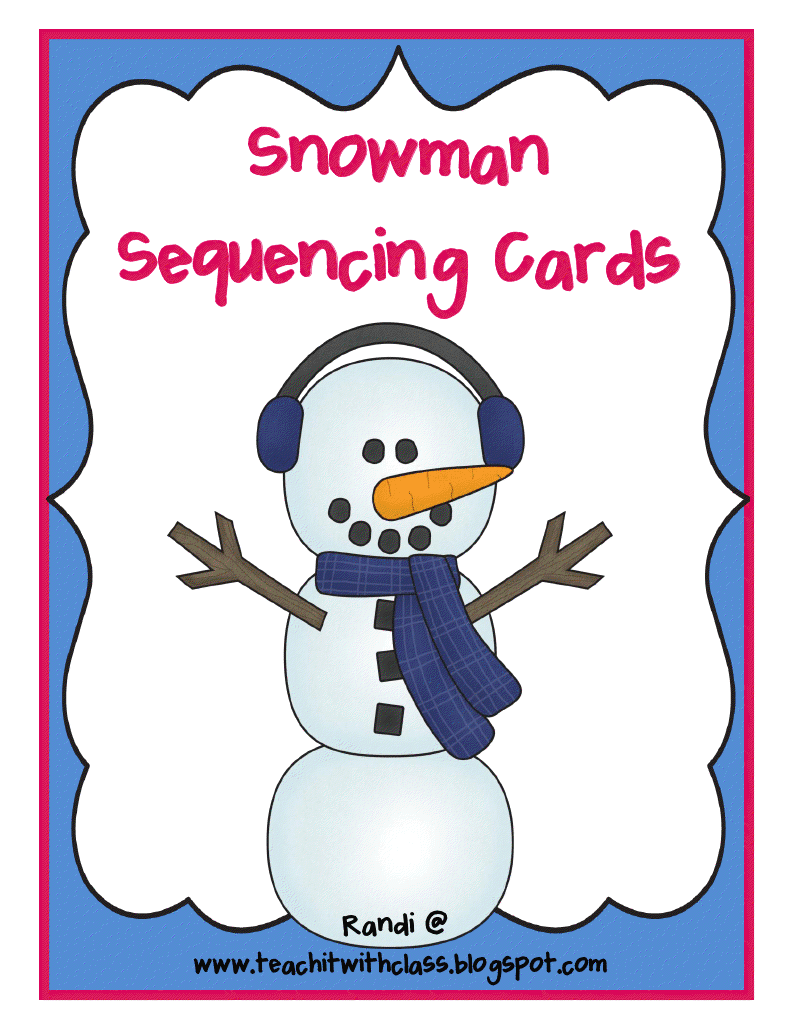 Snowman Sequencing Printable | Search Results | Calendar 2015