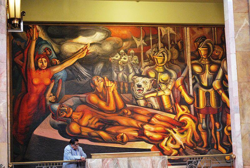 Mundo pict rico david alfaro siqueiros for El mural de siqueiros