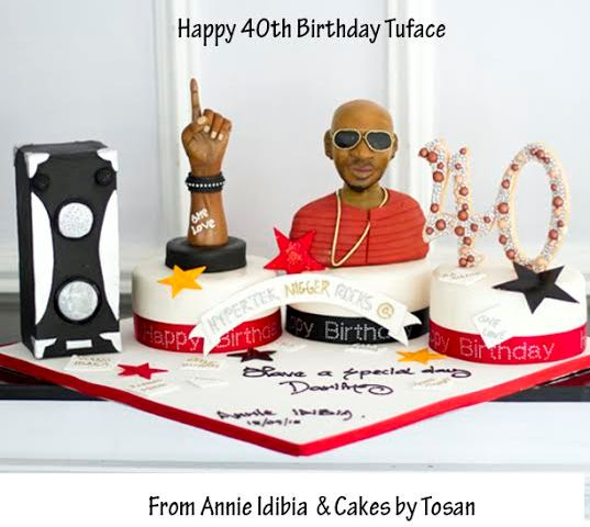 Yummy! Check out Annie Idibia's customized Birthday cake to Hubby @40