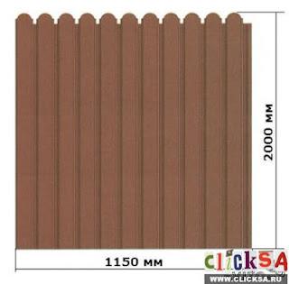 Забор из фигурного профлиста (резная кромка). Фото 18