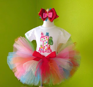 Rainbow Dots Yo Yo Gabba n Friends Number Tutu Set