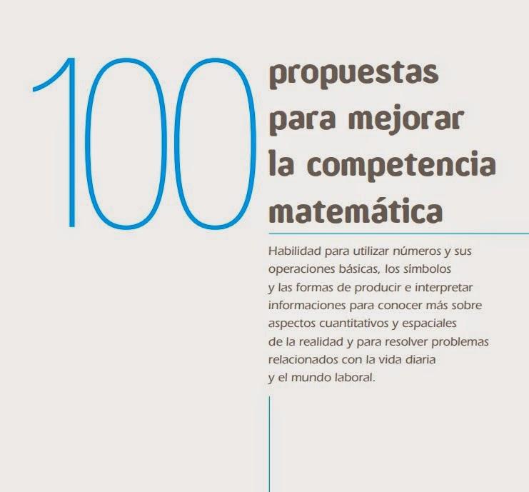 100 PROPUESTAS PARA MEJORAR LA COMPETENCIA MATEMÁTICA. TERCER CICLO DE PRIMARIA
