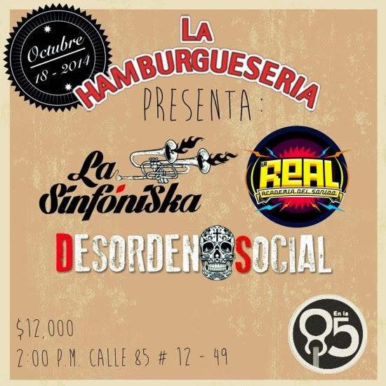 Desorden Social, La Real Academia del Sonido y La Sinfoniska en Bogotá