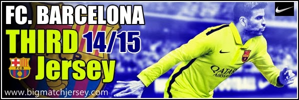 Kaos Jersey Bola Grade Ori (GO) Thailand FC Barcelona Third Official 2014-2015