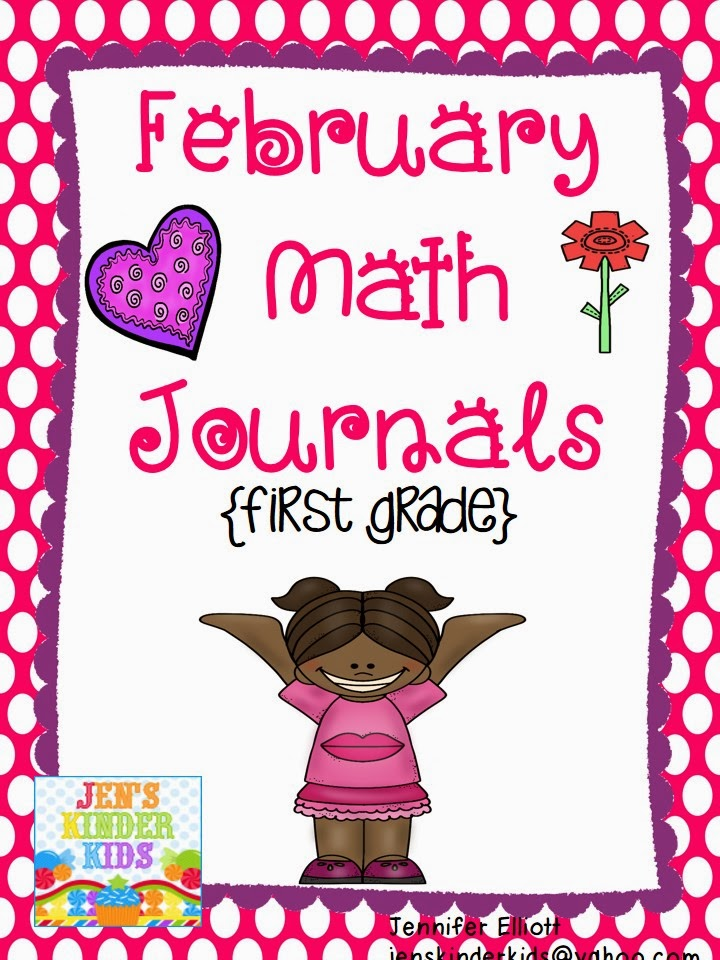 http://www.teacherspayteachers.com/Product/February-Math-Journals-First-Grade-1069270