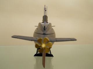 hélice de la maqueta del submarino ruso clase kilo de trumpeter