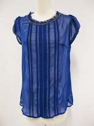 Blusas de Gasa, Colora Azul Electrico