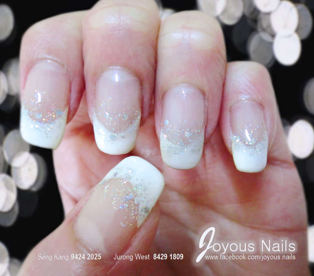 French glitter nail designs