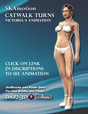 Catwalk Turns Animation