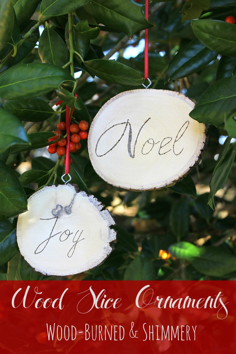 Wood Burned Wood Slice Ornaments