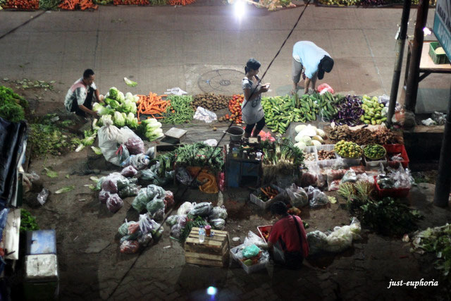 Indonesia Traditional night fresh market