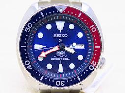 SEIKO DIVER NEW TURTLE PADI SUNBURST BLUE DIAL PEPSI BEZEL - SEIKO DIVER SRPA21K1 - AUTOMATIC 4R36