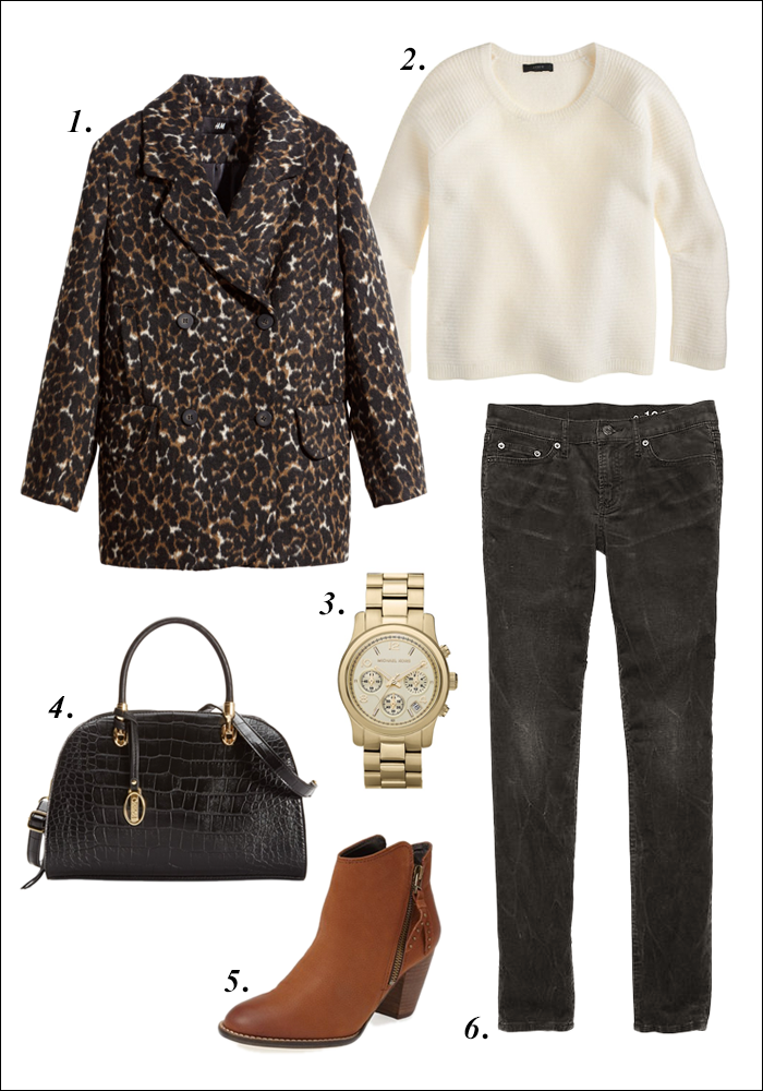 fall look, how to style leopard, how to wear cords, satchel, macys sale, nordstrom, gap, jcrew, how to wear booties