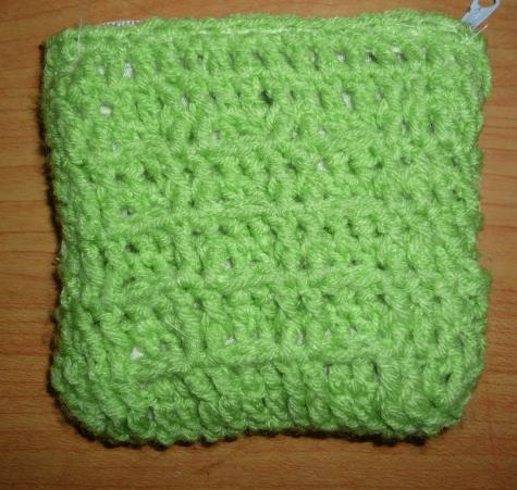 Crochet Waffle Stitch : ... and craft works: crochet shell stitch purse and waffle stitch purse