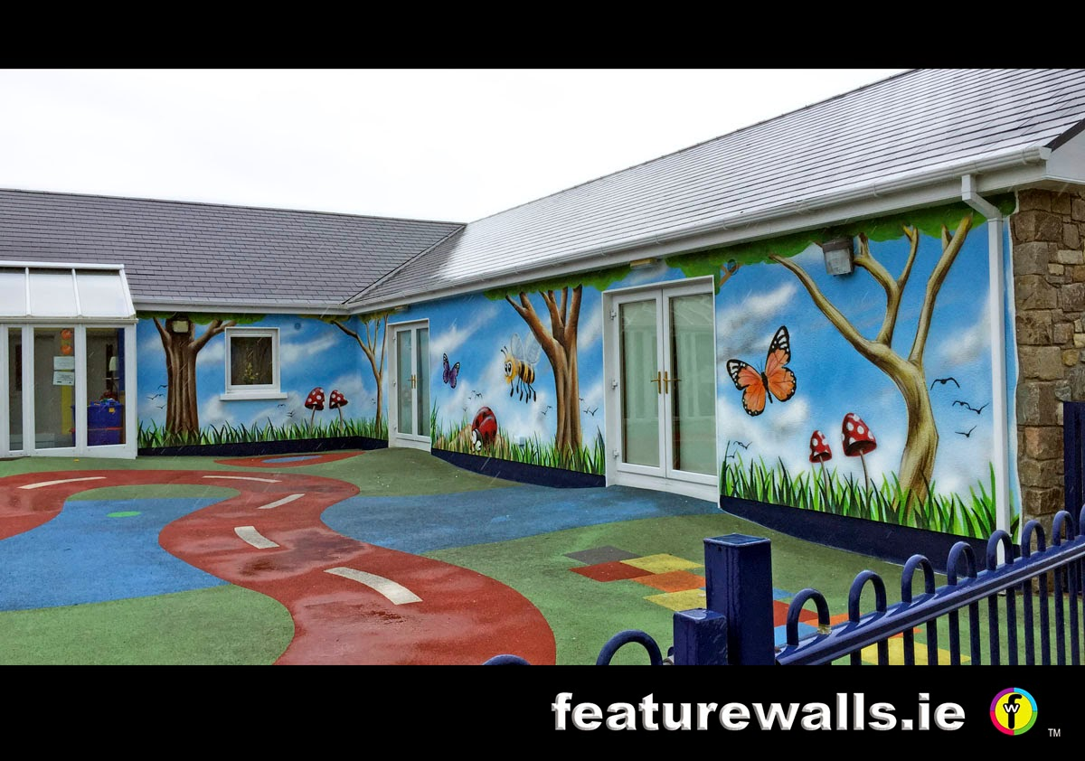 Mural painting professionals cute creche for Exterior mural paint