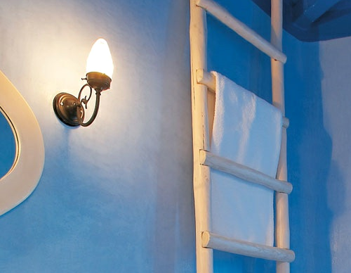 Greek blue decor