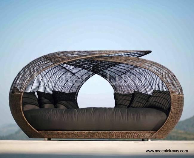 Arquitectura de Casas: 12 muebles de exterior, camas de día.