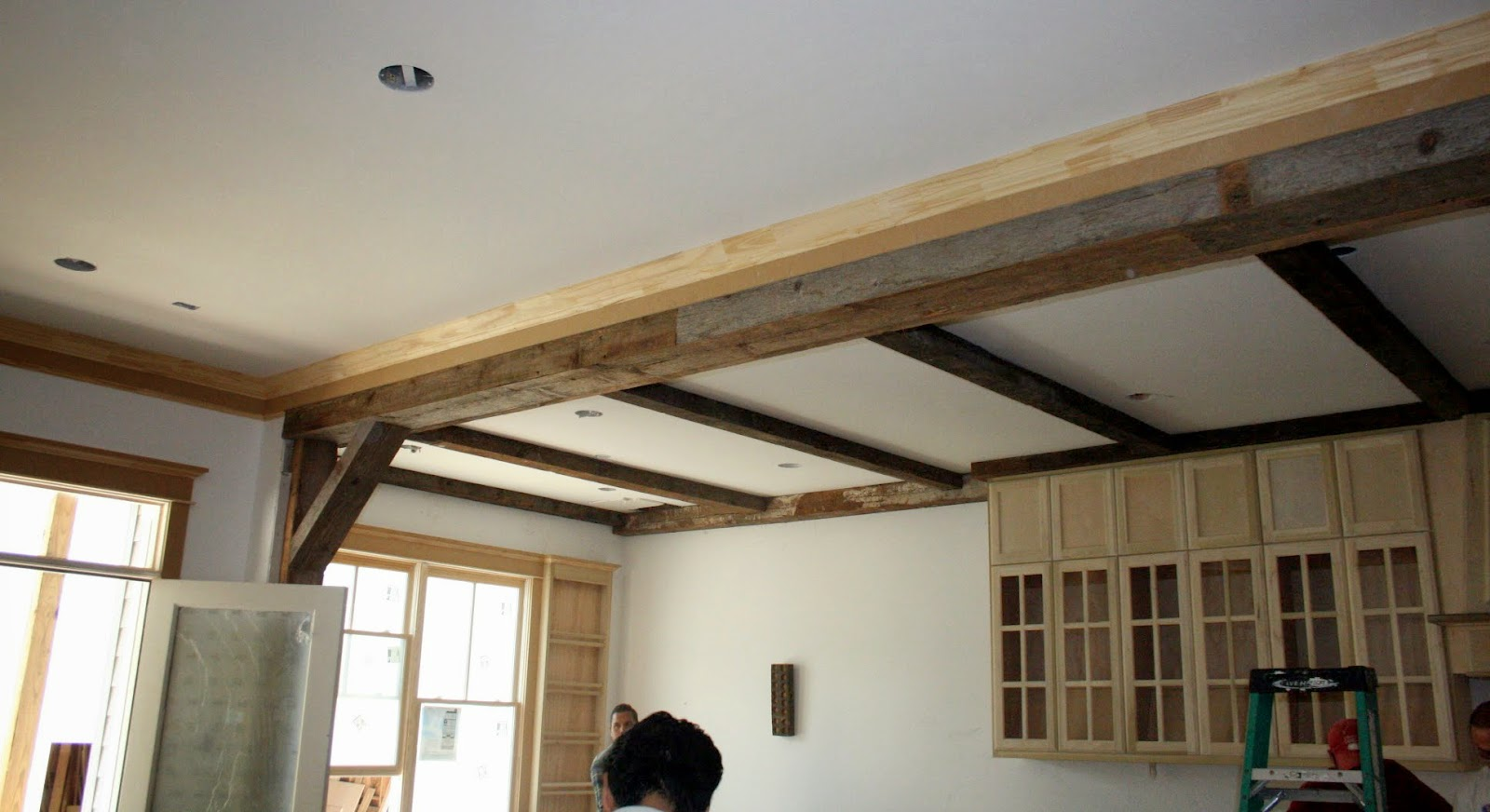 Beamed Ceiling New House Update Cedar Hill Farmhouse