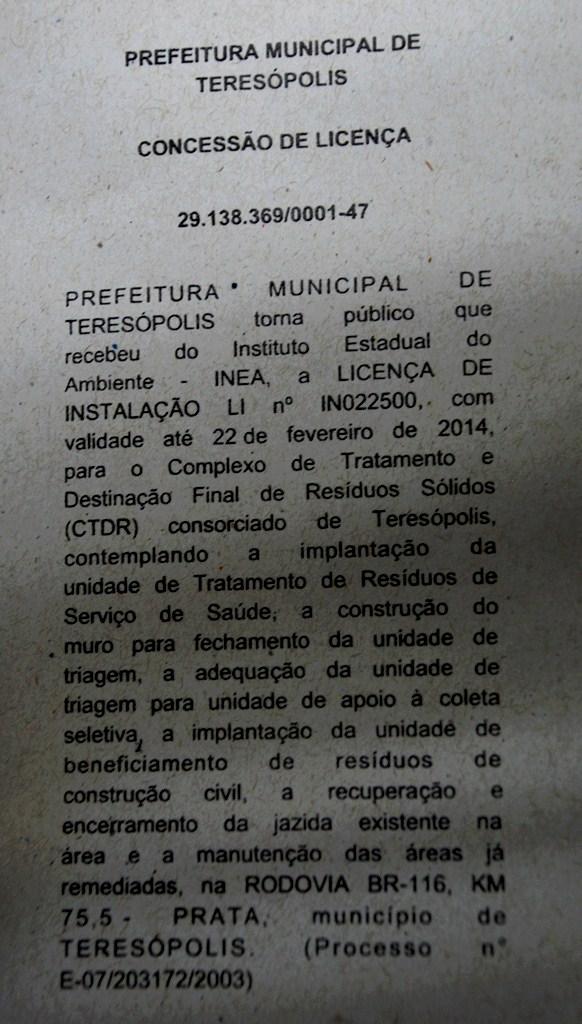 Estado concede licença para a Prefeitura tratar lixo hospitalar e reciclar entulho de obra no aterro sanitário