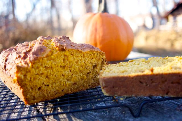 pumpkin yogurt loaf: simple living and eating