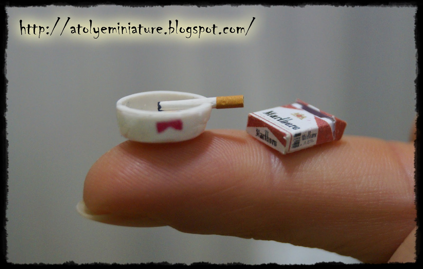 miniature ashtray