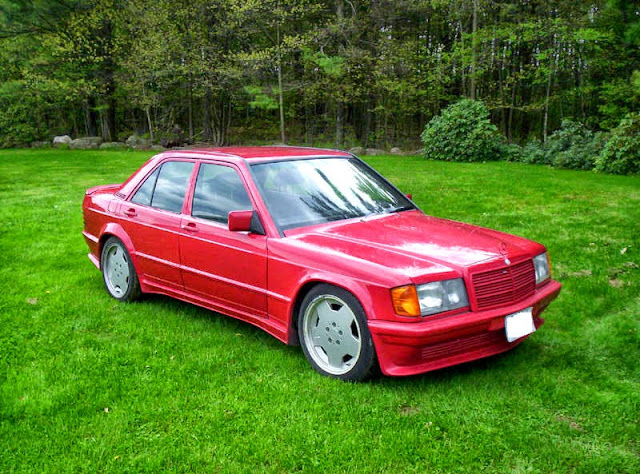 mercedes w201 190e amg red