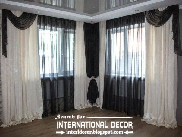 black and white living room curtain styles, living room curtains