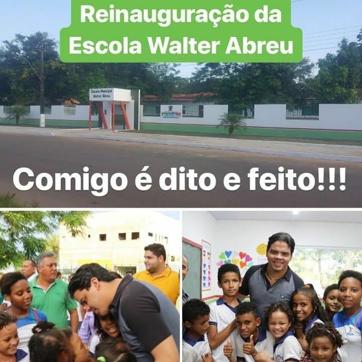 PREFEITO JOÃO LUCIANO VALORIZANDO A EDUCAÇÃO EM PINHEIRO.