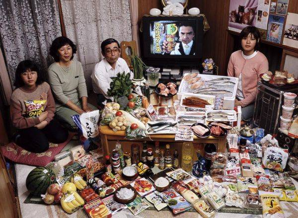 The Ukita family spends around $361 per week.
