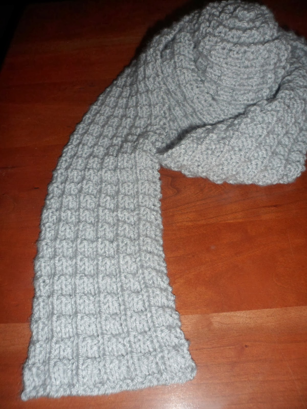 A Stitch At A Time for Amy B Stitched: RIBBED KNIT SCARF PATTERN
