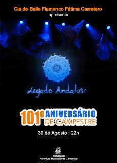 apresenta o espetáculo de baile flamenco Legado Andaluz em Capestre, cidade do interior de MG
