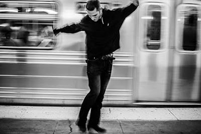 TapTronic getting down in the NYC Subway (Photo: Brian Doherty)